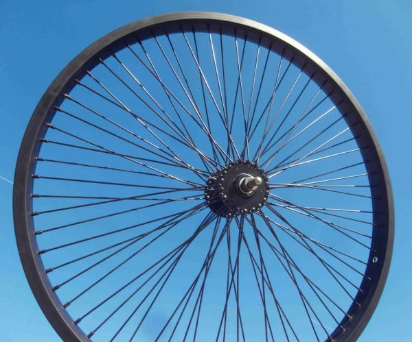24 inch. Front Wheel Alu black 72 Spokes