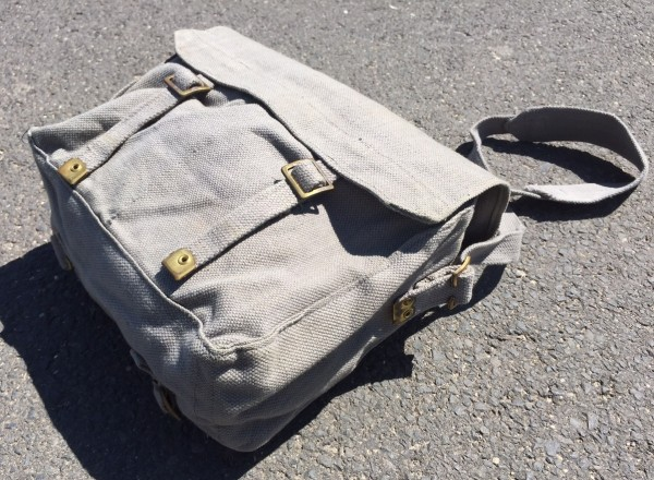 Classic Original English Army Bag, used, field gray - olive