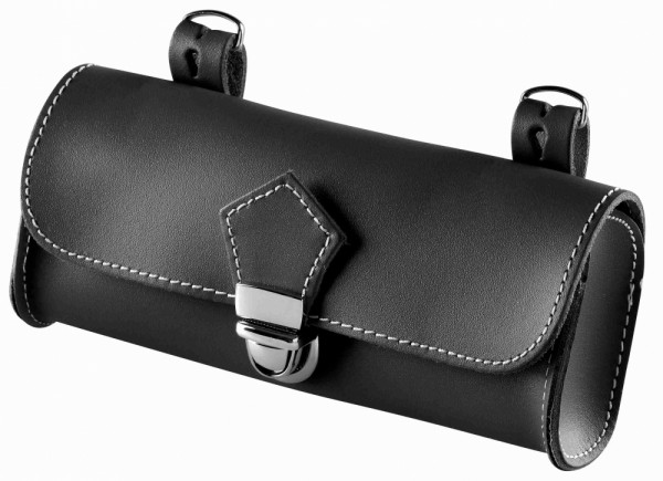 Saddle Bag, real leather black