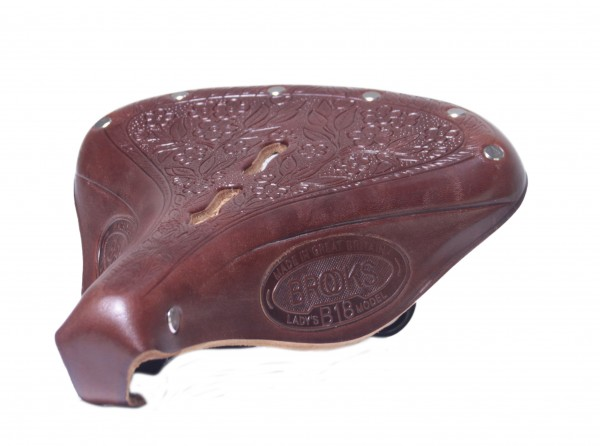 Brooks Leather Saddle B 18 Lady 1905, antique brown
