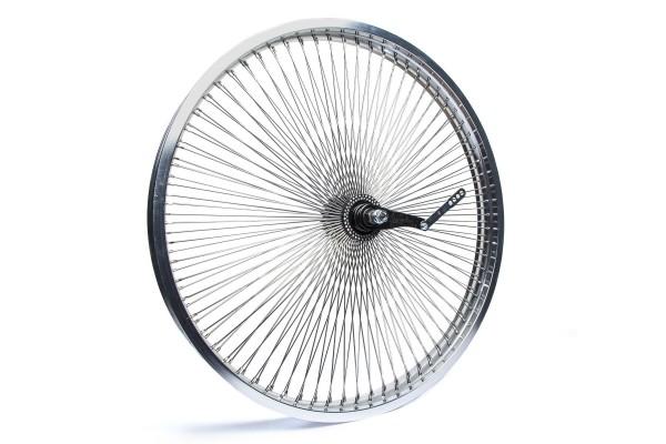 140 Spokes 26 inch. Rear wheel polished alloy