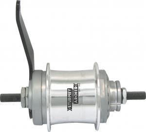 Sturmey Archer S2C 2 - Speed Duomatic Hub silver
