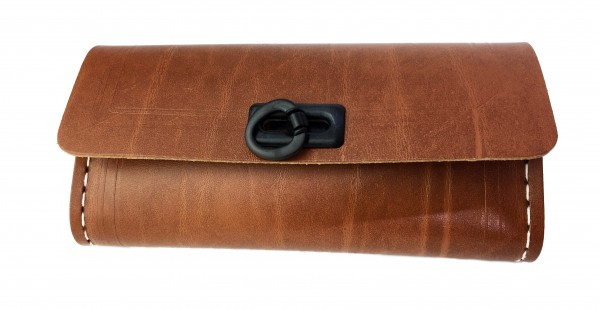Saddle Bag for Tools, brown with 1 black catch