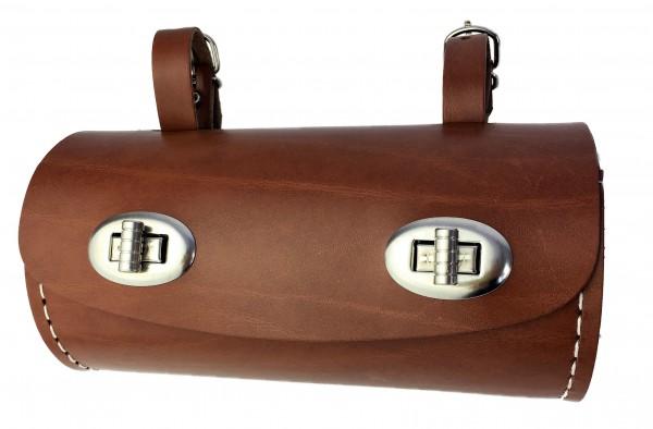 Saddlebag in barrel shape light brown