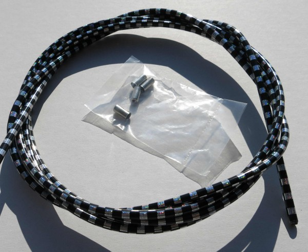 Outer Cable Housing Checkered Flag Black / Silver 2,50 m 5 mm