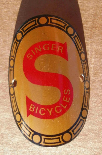 Head Badge Singer Bicycles