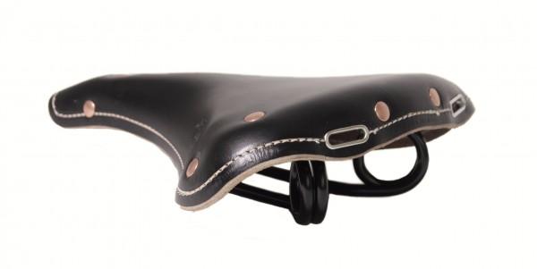 Vintage Leather Saddle Oxford Club black
