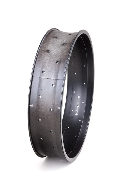 Alu rim 20 inch 102 mm high 32 holes black matte