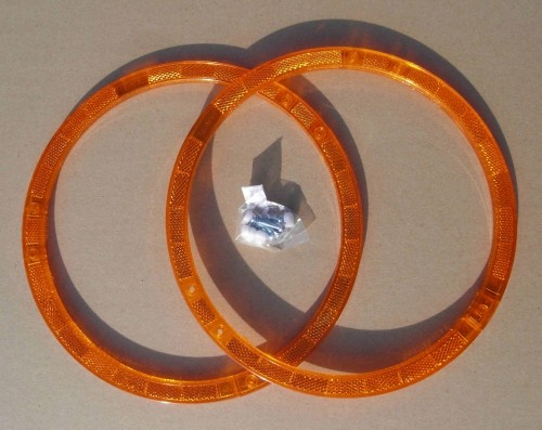 Circle Spoke - Reflectors orange