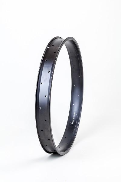 Alu rim 24 inch 67 mm, black, double wall
