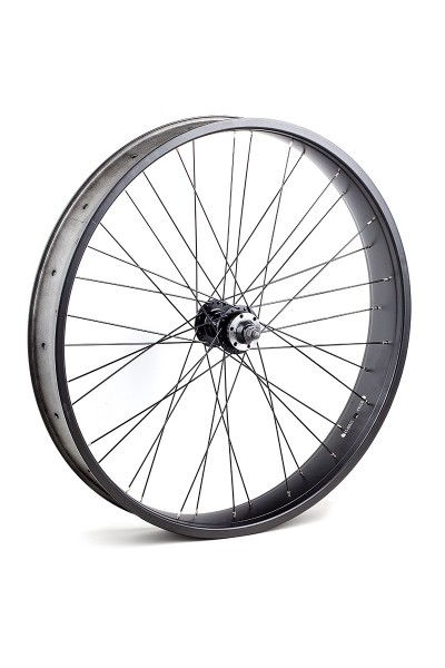 26 inch 82 mm black matte Front Wheel with Disc Brake Hub