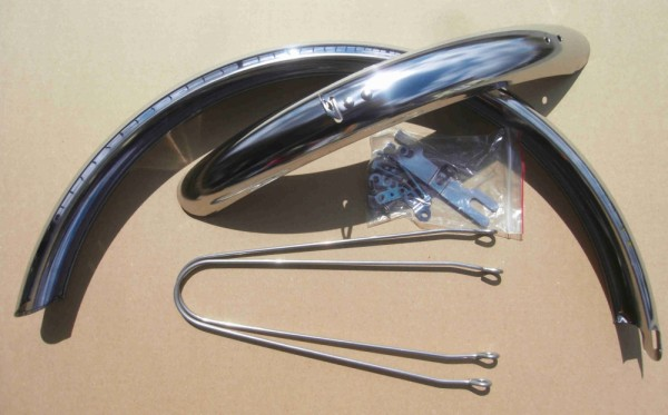 Fender Set 20 inch. Stainless for Folding and Polo Bikes Alu NOS