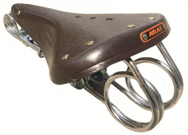 Saddle Victor 1898 darkbrown genuine Leather 2nd choice