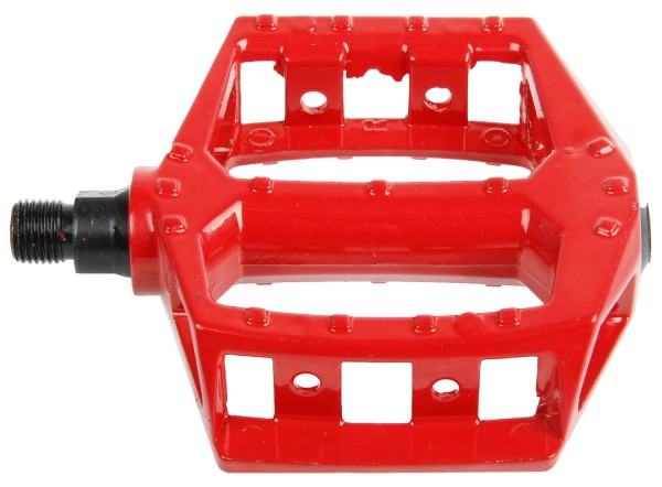 Aluminium Pedals, red, 1/2