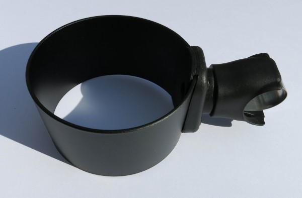 Alu CUP HOLDER Black for e.g. handlebar