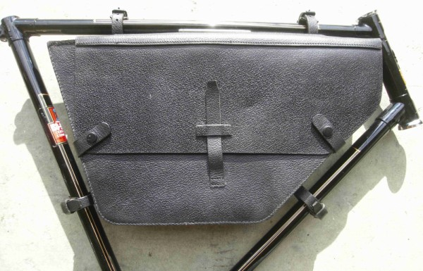 Real Leather Frame Bag black Swiss Army Replica