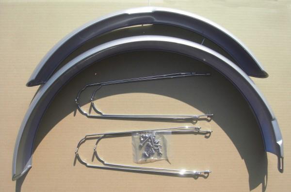 ALU Cruiser Fender Set 26 inch. 80 mm, silver