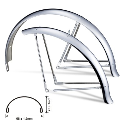 Fender Set 26 inch. 67 mm with Ducktails, chrome