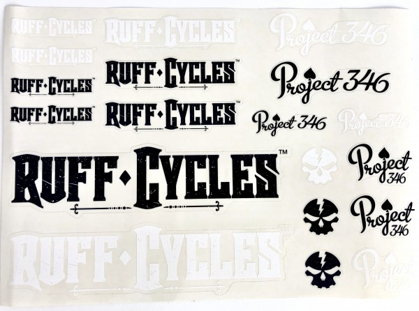Ruff Sticker / Project 346 Decal Set for Custom Frames