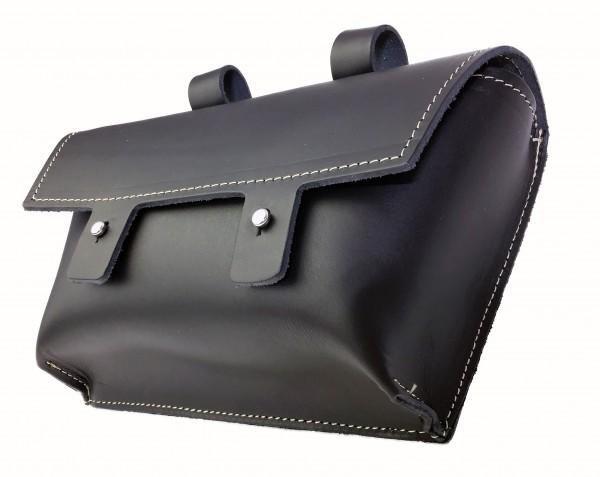 Handle-bag genuine leather in black