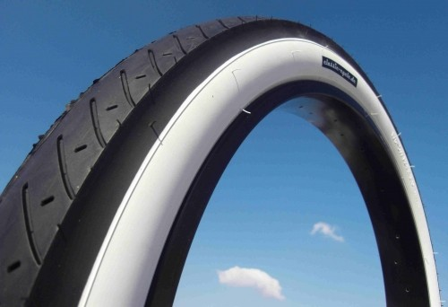 Tire Street Hog 24 x 3.0 black white wall