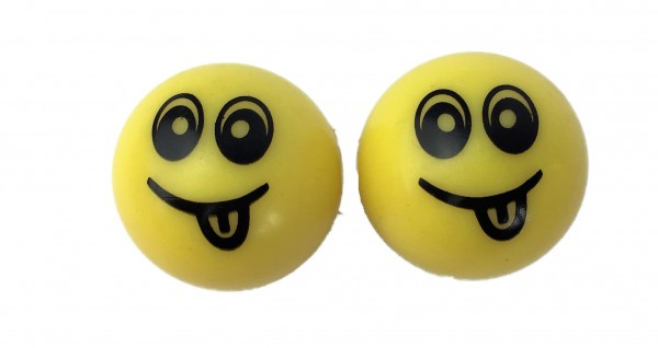 Valve Caps Yellow Smiley