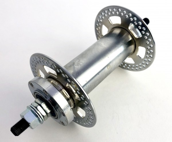 Extra wide Front Hub for 100mm rims for Disc Brakes, 144 holes
