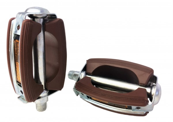 Union Pedal with Reflector 9/16 inch , brown
