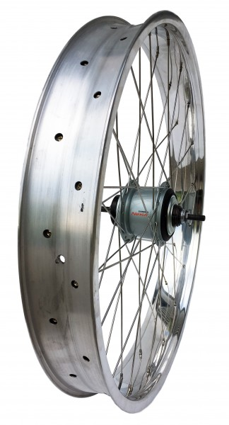 24 inch 82 mm high polished Rear Wheel with 8-speed Coaster Hub
