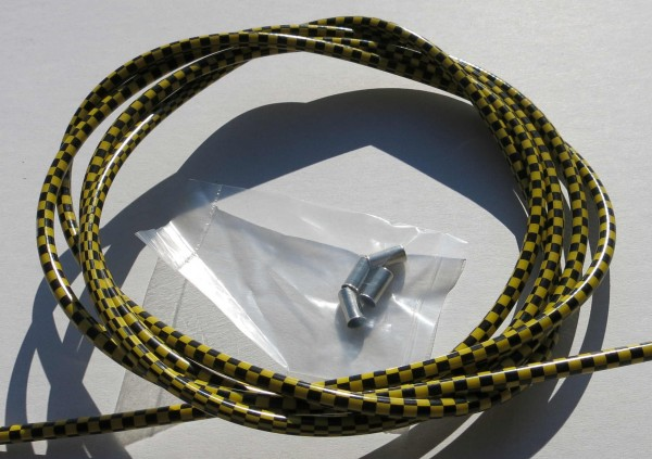 Outer Cable Housing Checkered Flag Black / yellow 2,50 m 5 mm