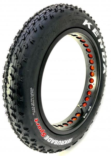204 Kenda Krusade Tire 20 x 4 inch pure black