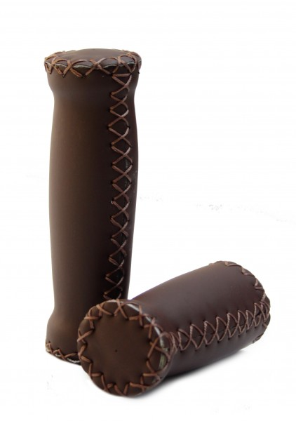 Italian Grips with outer seams, dark brown, short and long