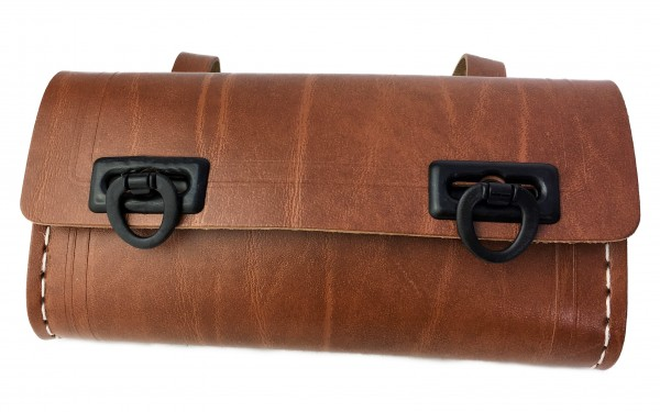 Saddle Bag for Tools, brown with 2 black catches