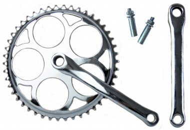 Sprocket / Crank Classic 46 T chrome, with cotterpins