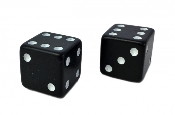 Valve Caps Dice, black
