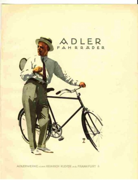 Adler Fahrrad-Werke postcard