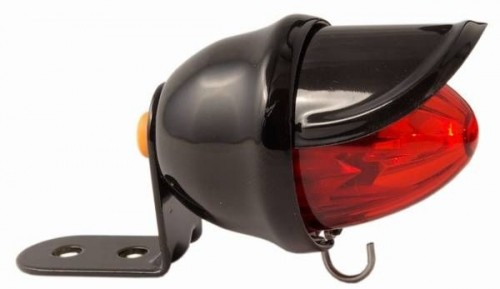 Tail Light Baby Bee, black, LED red