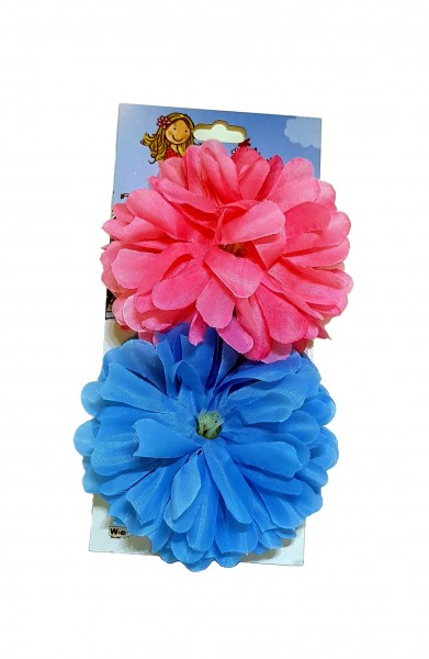 Handlebar flowers Painted Dahlia pink and blue