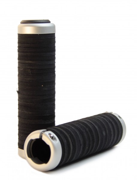 Leather Donut Grips, black