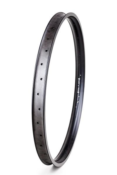 Alu rim 28 inch 46 mm 32 holes black matte