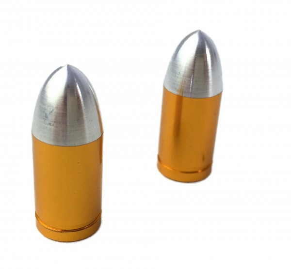 Valve Caps Bullet / Slug, brass