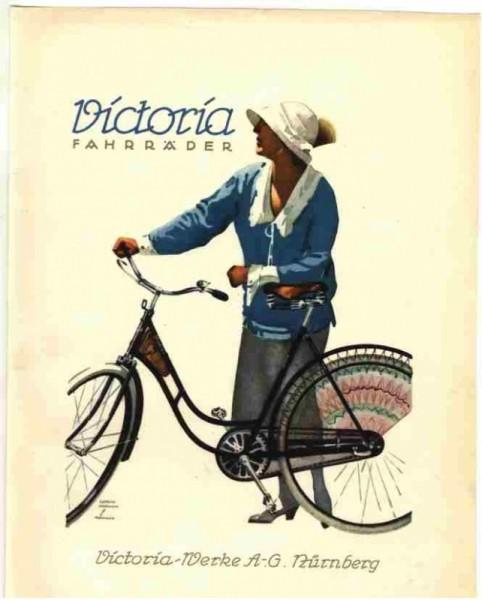 Victoria Fahrrad-Werke postcard