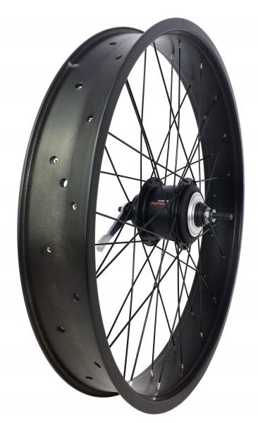 24 inch 82 mm black matte Rear Wheel with 8-speed Coaster Hub
