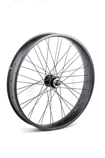 24 inch 82 mm black matte Front Wheel with Disc Brake Hub