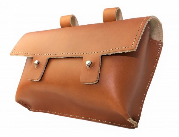 Handle-bag genuine leather in Light brown / Brandy