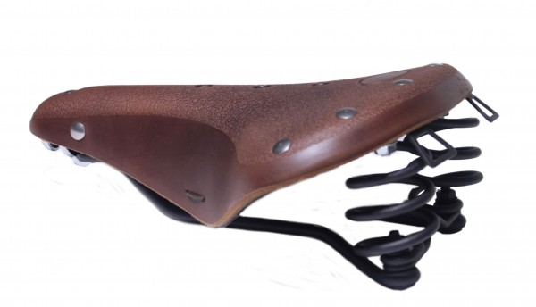 Worldchampion Leather Saddle Classic Cycle Gents, dark brown