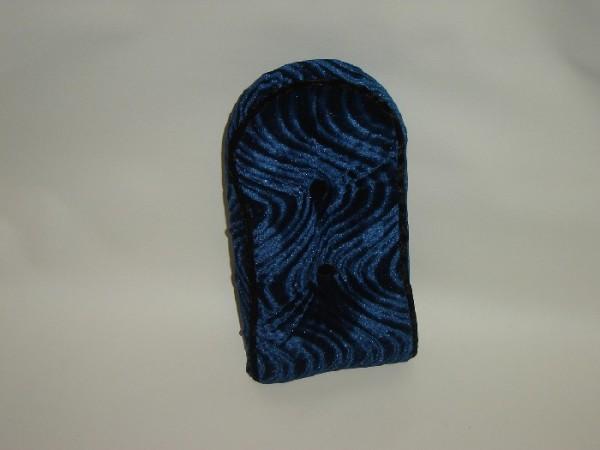 Sissybar Pad / Cushion, velours, blue