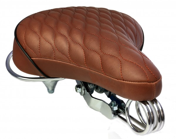 Cruiser Saddle, quilted brown
