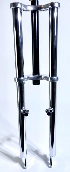 Double Crown Fork 625 1 1/8 steerer chrome plated