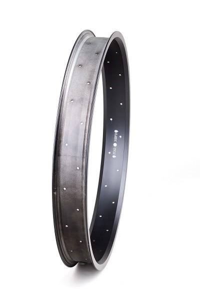 Alu rim 24 inch 67 mm black matte